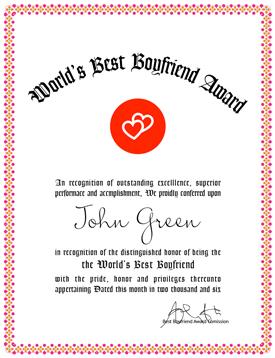 Award Cert